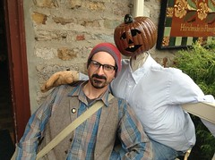 My best friends are not real (the ghost in you) Tags: halloween peddlersvillage scarecrow single