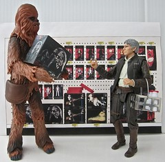 Shopping for Black Series (Worfles) Tags: starwars hansolo chewbacca actionfigures actionfigurephotography hasbro theblackseries starwarstheblackseries toyphotography shopping