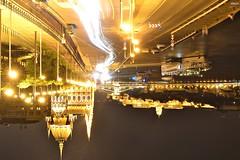Aesthetics of failure (Esther V.M.) Tags: budapest hungary hungra parliament parlament night longexposure lights luces exposicin street calle