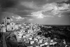 Pisticci (gioturco) Tags: blackandwhite biancoenero cityscape landscape architecture basilicata sky clouds church buildings bestof top10 panorama villaggio campagna