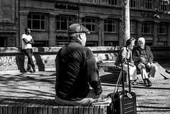City folk (Ludo_Jacobs) Tags: street streetphotography blackandwhite monochrome candid people city germany deutschland kln cologne