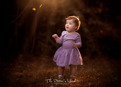 Autumn Whimsy (The Potter's Hand Photo) Tags: autumn girl child whimsy goldenhour nikon 70200 leaves yellow golden purple brownhair browneyes light sunshine sunflare sunlight sun shining naturallight