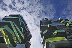 Colorful asymmetry - new apartments on the Quai d'Austerlitz, Paris 13th arr (Monceau) Tags: balconies glass yellow apartment buildings paris 13tharr colorful innovative architecture quaidausterlitz