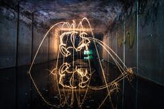 Underground Birthday (darkday.) Tags: urban woman lightpainting hot reflection sexy beautiful danger underground concrete photography graffiti photo risk pics extreme australian australia brisbane sparklers adventure drain explore mature infiltration attractive qld queensland aussie sparkler exploration seeker milf hacking thrill stunt ue urbex queenslander