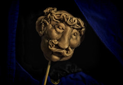 Head kabob (LeftCoastKenny) Tags: sculpture moody head utata hood stick ironphotographer utata:description=hide utata:project=ip204