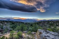Sunset at Pikes Peak on October 31st, 2014