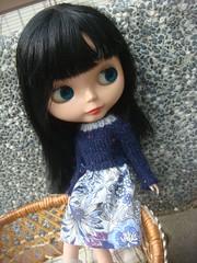Blythe long sleeved knitted dress