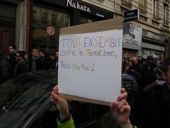 Lyon ... Nous tions des milliers ... (OneDjiP) Tags: lyon rhne charlie 69 charliehebdo 11janvier