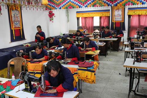 Thimphu, traditional arts, sewing class