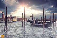 Venetian sticks (sunprojec) Tags: santa travel venice sunset travelling church canal sticks nikon maria tokina gran gondola venetian maggiore venecia gondolier venezzia gondolero d7100