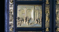Ghiberti, Gates of Paradise, Esau and Jacob panel