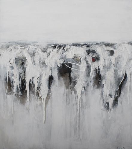 80x90 | Paesaggio Informale in bianco