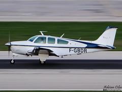 Private --- Beech F33A Bonanza --- F-GBDR (Drinu C) Tags: plane private aircraft sony dsc beech mla bonanza f33a lmml hx100v adrianciliaphotography fgbdr