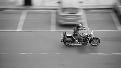 Joy Ride (4oClock) Tags: white black leather bike mono chopper nikon north harley east promenade motorcycle seafront davidson