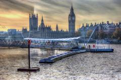 Westminster, London (saxman1597) Tags: england london water westminster thames pier housesofparliament bigben riverthames hdr nikond3200 photomatrix nikon18300vr