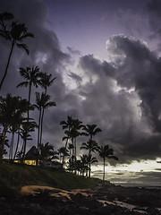 Gazebo (edwham) Tags: ocean sunset sky clouds palms hawaii evening twilight dusk maui palmtrees napili napilishores napilishoresresort outriggernapilishores