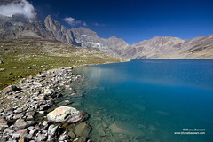 Gangbal Lake, Jammu & Kashmir (Bharat Baswani) Tags: blue lake mountains trek landscape peace great lakes alpine serenity kashmir himalayas jammu glacial gangabal gangbal