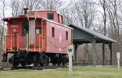 Xenia, Ohio (2 of 3) (Bob McGilvray Jr.) Tags: railroad ohio public train display tracks peremarquette caboose co bo xenia pm chesapeakeohio baltimoreohio