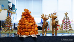 20141202-06-Tanya's croquembouche (Roger T Wong) Tags: christmas food office australia tasmania hobart croquembouche 2014 sonyalpha7 sonya7 carlzeiss35mmf28 rogertwong sonyilce7
