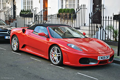 Ferrari F430 Spider (CA Photography2012) Tags: ca red horse london car photography spider italian united kingdom convertible automotive ferrari knightsbridge spyder exotic kensington mayfair rosso supercar v8 spotting sportscar f430 corsa prancing 430 belgravia cn09cwt