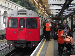London Underground C Stock 5719 and 5718 at South Kensington 2013 (CoachAlex1996) Tags: railroad england london train underground south stock tube rail railway trains system east transportation network subsurface