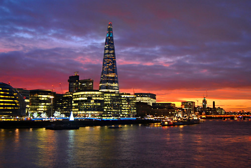 London Sunset @ Shard by Loco Steve, on Flickr
