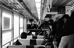 japan story bn3 (jedydjah) Tags: street city urban bw film japan 50mm strada minolta metro trix streetphotography bn d76 50 developed xd7 treno giappone citt trix400 pellicola urbanlifeinmetropolis analogicait