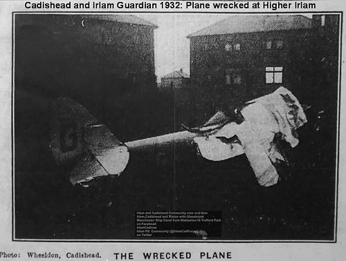 plane steel barton wrecked irlam