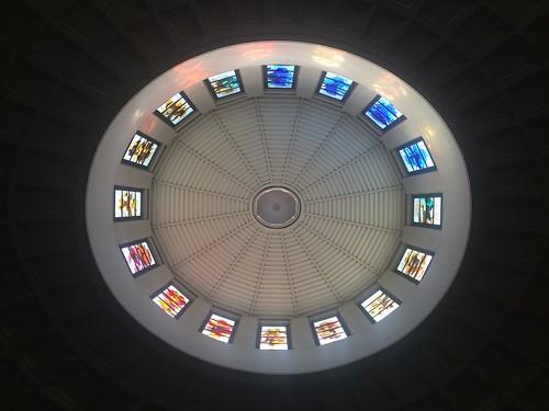 Circular church dome in Barcelona