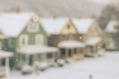 First real snow 2015 (Kilkennycat) Tags: street houses winter snow canon colorful bokeh snowing 500d kilkennycat 40mm28 t1i ryanconners