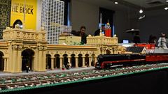 LEGO Union Station (tim.perdue) Tags: city columbus ohio brick art station museum club train toy outside construction model downtown lego think union central replica build cma