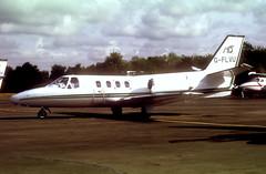 G-FLVU Cessna Citation I 501  (MSN 501-0178) (Bates Aviation Reports) Tags: g scan 1998 biz bbs