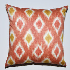 DSC_5165 (4 Your Decor) Tags: orange yellow gold pillows diamond pillow zipper etsy offwhite homedecor couchpillow darkorange pillowcover diamondpattern bedpillow invisiblezipper