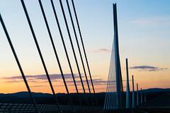 Viaduc de Millau (mninaa) Tags: sunset sky architecture ciel pont millau