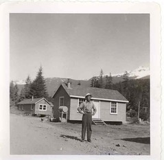 Paul Chong as a lumberjack in British Columbia in early 1950s