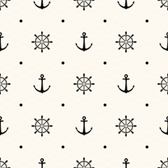 Vector seamless retro pattern (Soureticencas) Tags: travel sea summer holiday black art geometric fashion wheel illustration swim vintage circle tile point design marine pattern sailing artistic background navy decoration style wave polka dot line collection textile fabric invitation maritime pirate repetition anchor geometrical sailor nautical ornate decor greeting vector element seamless textured repeat endless navigate seamlesspattern