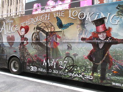 Alice Through the Looking Glass Bus Billboard 9145 (Brechtbug) Tags: street new york city nyc bus film glass cat movie tim looking cheshire near alice broadway lewis disney double billboard johnny billboards carroll through mad depp avenue wonderland 7th 42nd hatter burtons decker in 2016 05192016