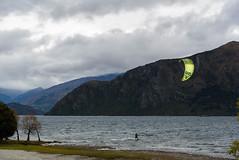 Make it at Last (Jocey K) Tags: autumn trees newzealand sky people mountains clouds wind autumncolours southisland centralotago windsurfing windsurfer lakewanaka tripdownsouth