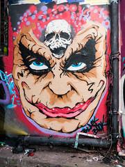 Cise One (cocabeenslinky) Tags: street city uk england urban streetart london art writing lumix skull one graffiti paint artist photos south united capital letters may kingdom tunnel can spray east panasonic waterloo writers joker graff leake se1 artiste 2016 cise dmcg6 cocabeenslinky artistspaintjam
