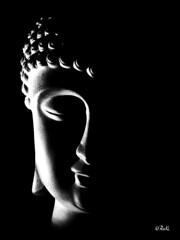 Buda (chyky9) Tags: shadow portrait black face silhouette dark photography photo blackwhite nikon peace darkness magic happiness pic buda nikond3200 nikonistas d3200