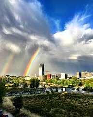 En el 28050 (BryantBA) Tags: madrid lastablas 28050 mymadrid spain arcoiris rainbow lluvia sol sky