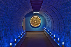 Blue tunnel (Mark Chandler Photography) Tags: atlanta color colour museum plane canon ga georgia airplane photography photo airport colorful display atl stock jet delta jackson 7d planes airports airlines propeller eastpoint collegepark hartsfield deltaairlines markchandler 7dmarkii