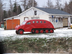 Bombardier snowmobile (JarvisEye) Tags: canada track newbrunswick vehicle snowmobile bombardier tracked kentjunction