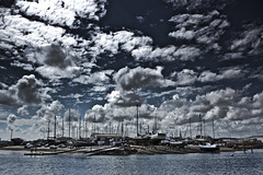 Dry Docks (Italian_Dreamer) Tags: colour clouds docks river boats dramatic dry