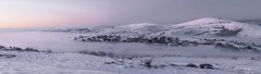 The Valley in the mist (alundisleyimages@gmail.com) Tags: winter panorama snow nature weather wales sunrise landscape dawn hills welsh hillwalking northwales clwydhills