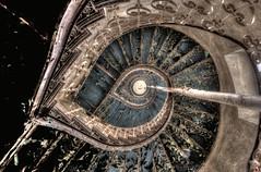 spiral staircase mandelbrot delirium (Szydlak Szk) Tags: urban abandoned dark spiral sad image spooky staircase urbanexploration miranda exploration derelict hdr deteriorated decayed noisy miejsca szk verlassene opuszczone szydlak
