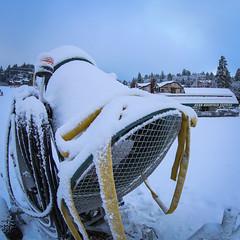 First snow at Bear Mountain in Big Bear Lake, California.