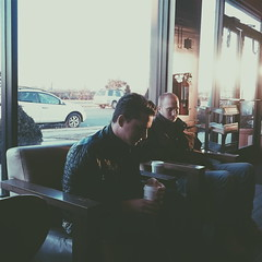Caffeine Addicts (BlueRaven.) Tags: coffee youth thought sony think starbucks ponder caffiene vsco xperia xperiaz3
