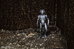 Our intrepid Cyberman gets lost - and pays the price! Doctor Who (RickDrew) Tags: danger silver toy robot model doll who dr evil doctor figure cyberman android cybermen