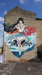 Doina by Nego and Lux HiFi (Digger Barnes) Tags: park street music streetart lamp girl beautiful car festival wall graffiti mural romania lux hifi cosmos andrei timisoara nego doina românia timișoara plai drăgan negoiță